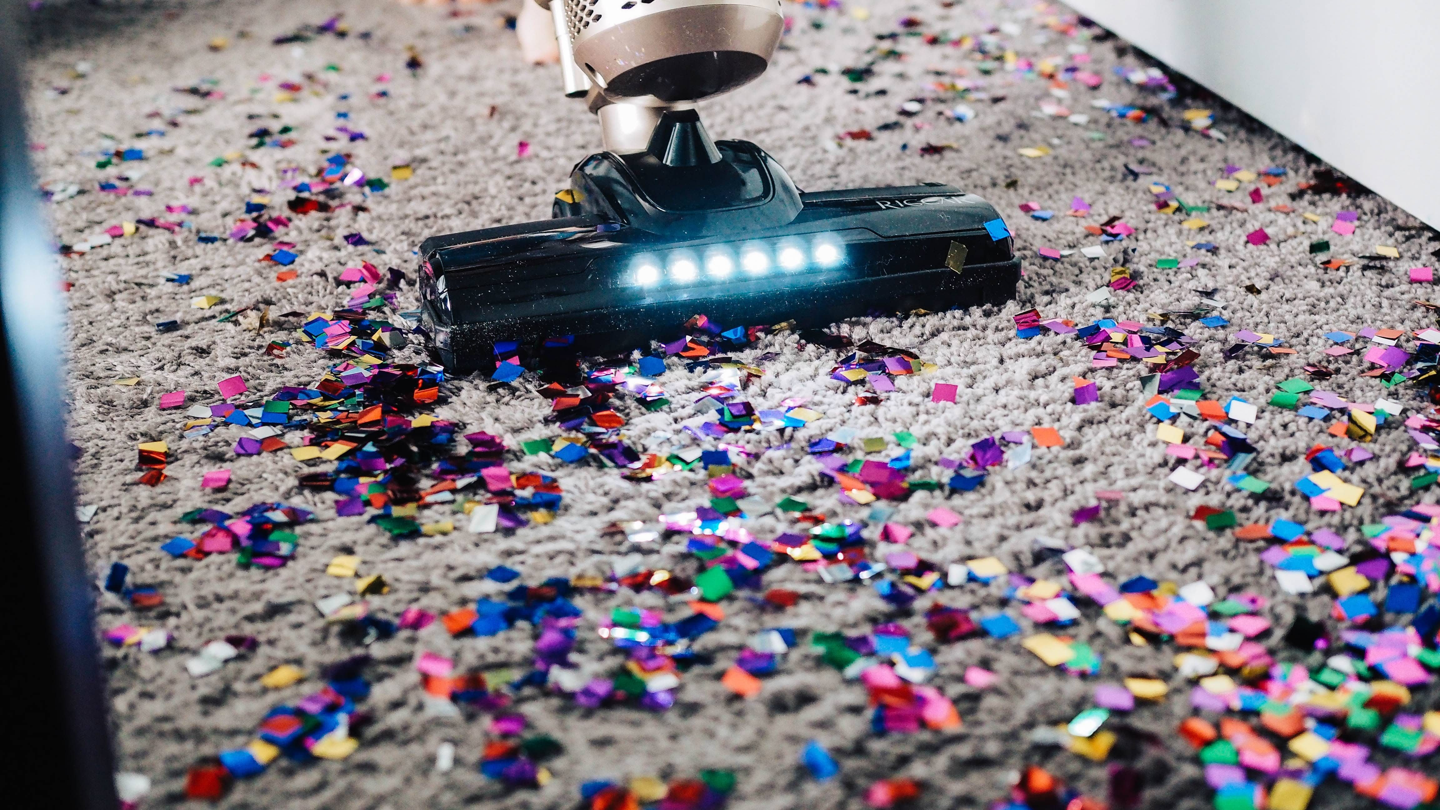 cleaning up confetti