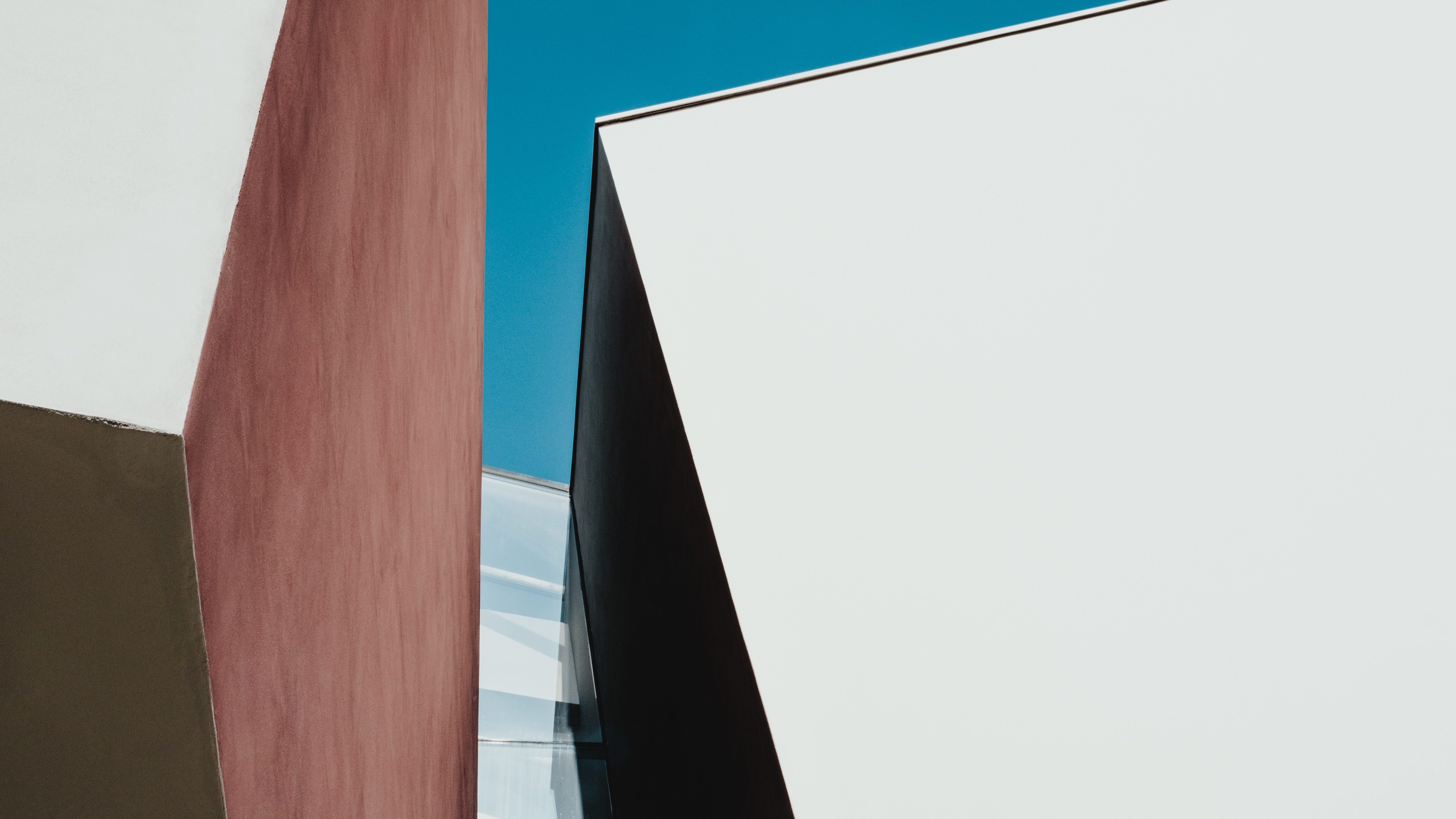 Modern architectural building angle